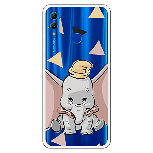 Funda para Huawei P Smart 2019-Huawei Honor 10 Lite Oficial de Dumbo Dumbo Silueta Transparente para Proteger tu móvil. Carcasa para Huawei de Silicona Flexible con Licencia Oficial de Disney.