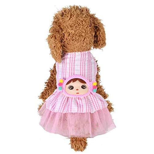 Moneycom - Vestido pequeño para perro o perro con lazo para perro o gato
