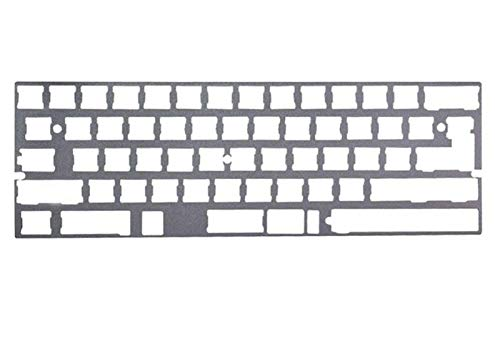 juqingshanghang1 Tastaturplatte 2.25U ALU-Platte 60% DZ60 GH60-Teller für DIY Mechanische Tastatur Edelstahl (Color : Gray)
