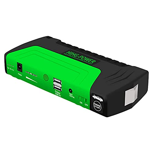 WBJLG Car Jump Starter Power Pack Amplificador automático de batería, Pantalla LCD 2 USB multifunción Powerbank para automóvil, cortacésped, Motocicleta