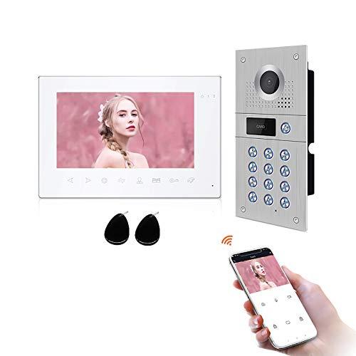 JeaTone Intercomunicador con cámara (7 pulgadas, monitor táctil de 7 pulgadas + 1 timbre de puerta 960 p).