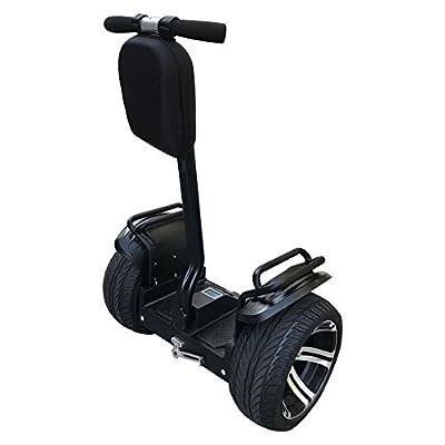 Smart Self Balance Scooter Personal Transporter 19 inch Super Street Tires (SS Black)