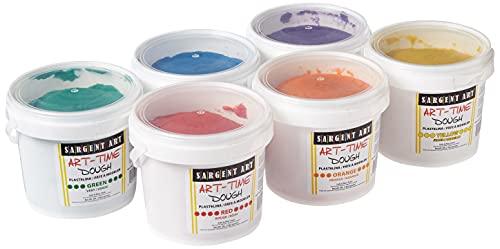 Sargent Art 6 Color Dough Set 3 Pounds Each ArtTime Artist Dough 18Pound Assortment