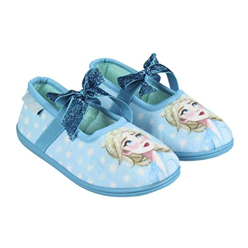 Artesania CERDA Mädchen Zapatillas De Casa Bailarina Frozen 2 Niedrige Hausschuhe, Blau (Azul C37), 28 EU