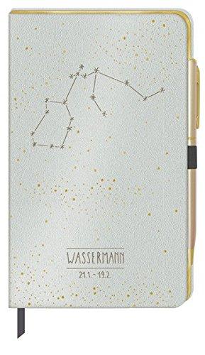 Stilvolles Notizbuch - Sternzeichen Wassermann