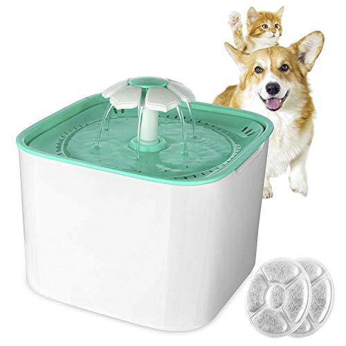 ZGYQGOO Haustier-automatischer Trinkbrunnen, Haustier-Wasser-Brunnen-Wasserspender für kleine Hunde und Abs-Haustier-Brunnen der Katzen-2L automatischer Wasser-Aktivkohle-Filter