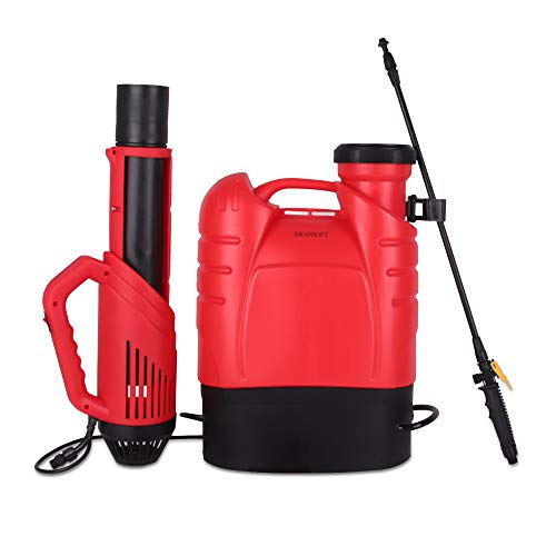SWANSOFT Electrostatic Sprayer, Battery Powered Backpack Sprayer, Professional Electrostatic Fogger Machine - 4.2 Gal