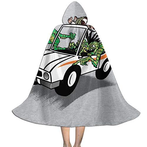 NUJSHF Gremlins Gizmo gebunden an die Spitze eines Autos Unisex Kinder Kapuzenumhang Umhang Umhang Cape Halloween Weihnachten Party Dekoration Rolle Cosplay Kostüme Outwear