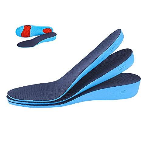 CosyInSofa Plantilla de aumento Altura de amortiguación elástica Altura de inserción de calzado deportivo para hombres o mujeres Cómodas plantillas de reemplazo transpirables (2.3cm(S:35-40EU), Azul)