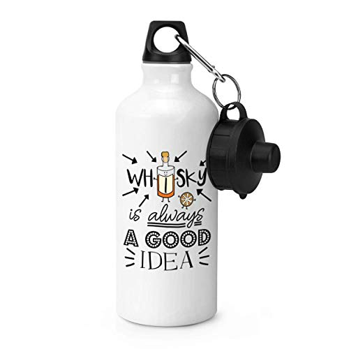 tian huan88 600ml Sport Waterfles, Whisky is altijd een goed idee Gym 20oz Aluminium Gym Sport Waterfles