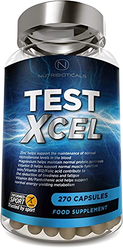 Test Xcel - 3 Months Supply | Informed Sport Registered | 17 Potent Active Ingredients with Added Maca, D Aspartic Acid, Nettle, Fennel, Asian Red Panax Ginseng and More