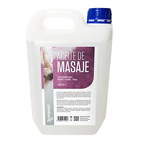 Aceite de Almendras Dulces, Romero, Lavanda e Hinojo | Aceite para Masajes profesionales | Aceite corporal | 5L