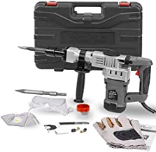 XtremepowerUS 1400W Demolition Electric Jack Hammer Concrete Breaker Trigger Lock with (2) Chisel Bit with Carrying Case
