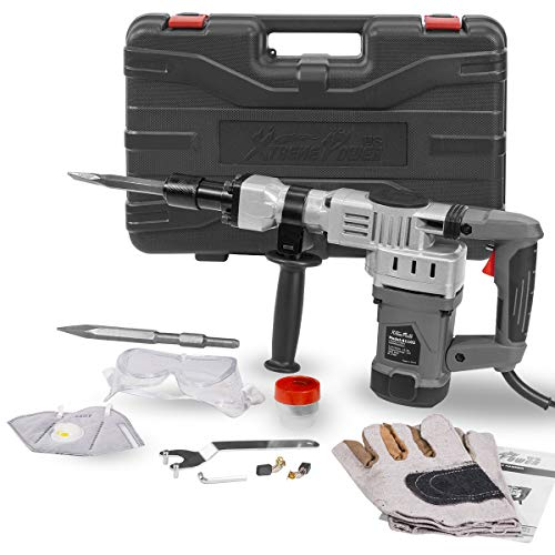 Discover Bargain XtremepowerUS 1400W Demolition Electric Jack Hammer Concrete Breaker Trigger Lock w...
