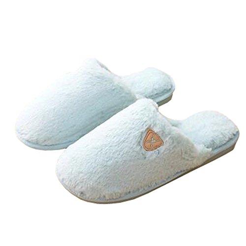 Femmes d'hiver et chaleureux Chaussures Indoor Maison Chaussons, Baby Bleu