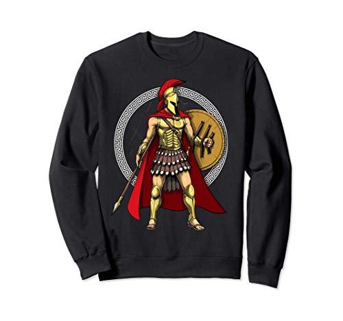 Guerrero Espartano Mitología Griega Antigua Romano Historia Sudadera