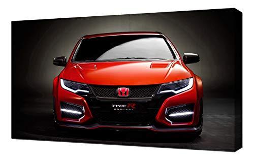 Lilarama 2014-Honda-Civic-Type-R-Concept-V4-1080 - Art Leinwandbild - Kunstdrucke - Gemälde Wandbilder