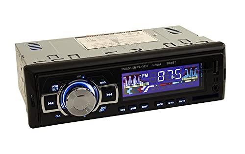 Di Tutto Per Tutti Autoradio MP3 Stereo Car Auto 4 X 65W Supporto USB SD AUX USB Ricarica Rapida Radio FM Bluetooth Vivavoce con Telecomando 2055BT