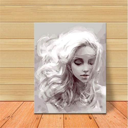 RedAlphabet Material de la Lona de Lino DIY Digital Pintura Genio Nieve...