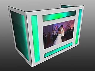 DJ Facade / DJ Booth by Dragon Frontboards: Draglord 5' TV Facade / White Frame