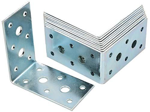 50 KOTARBAU Winkelverbinder 60 x 60 x 20 mm Sicke Stahl Bauwinkel Montagel/öcher M/öbelwinkel Verzinkt Schwerlast Holzverbinder Montagewinkel Stuhlwinkel
