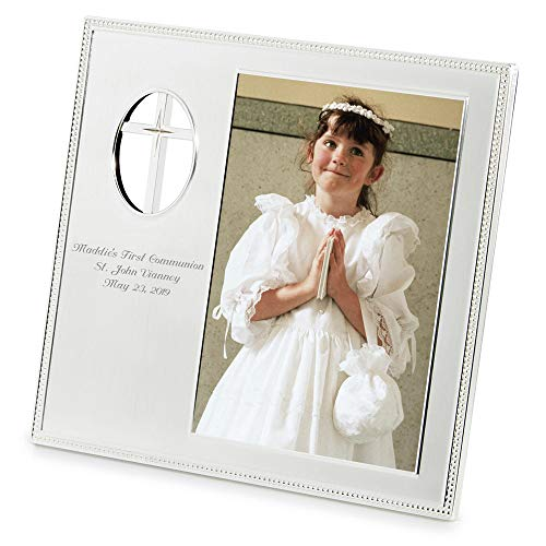 Things Remembered Personalized Cross Cutout 5 x 7 Frame, Religious Cross Picture Frame with Engraving Included