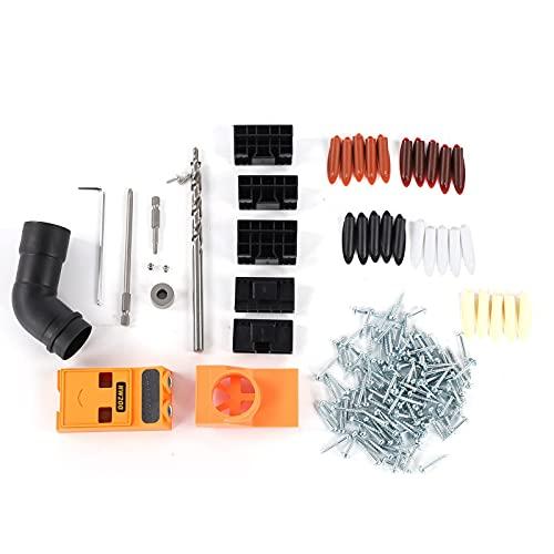 Medidor de orificios de bolsillo, buscador de orificios inclinados, juego de perforadoras de guía de carpintero Herramienta para unir paneles para carpintería con alta tenacidad