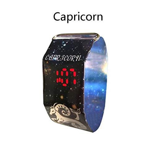 H&J Wasserdicht Constellation Papier-Uhr Mit Magnetsystem Super Light Durable Digital-Armbanduhr Für Kinder Jungen Mädchen Teens,Capricorn