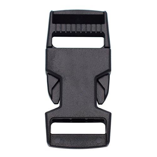 25 mm plastic Side Boucles de dégagement en toile Boucle Lot de 10 pour sac à dos