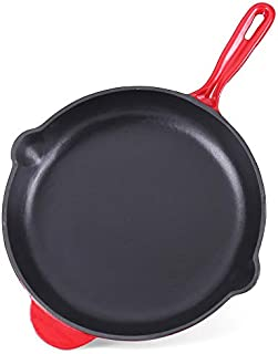 "Ekoteq Frying Pan 12"" Enameled Cast Iron"