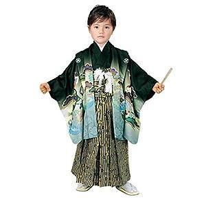[京都室町st.] 七五三 5歳 男の子 着物 セット R・K「リョウコ・キクチ」ブランド 羽織 袴 フルセット(合繊)RK5-2051ful
