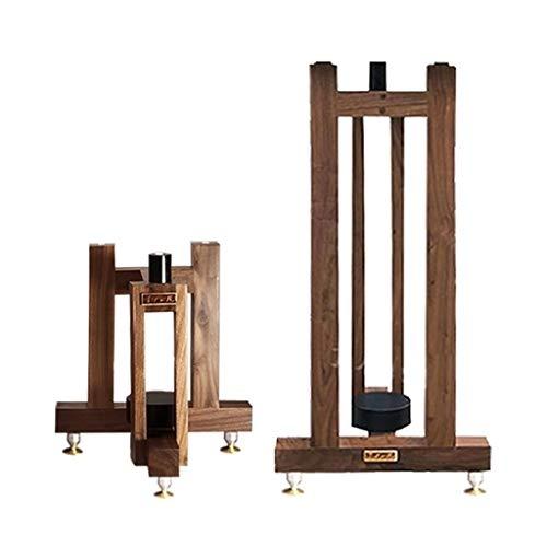 Möbel Lautsprecherständer Surround-Sound-Holz Bücherregal Regal Boden Professionelle Überwachung Groß Angelegte Musikszene Boxenständer (Color : Brown, Size : 30 * 27 * 33.5cm)