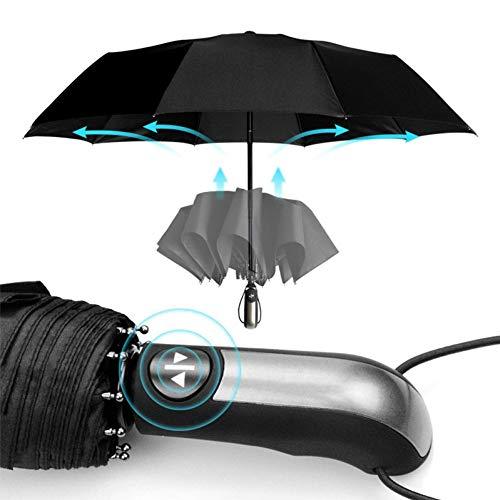 Completamente automático Resistente al viento paraguas de la lluvia de las mujeres Hombres 3Folding regalo Parasol compacto grande de viaje de negocios de coches paraguas 10k