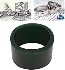 Green Carving Wax, Jewelry Bracelet Wax Casting Tube Hole Bracelets Circle Mold Ring Tube Mold Jewelry Making Engraving Tool Accessory (M Oval)
