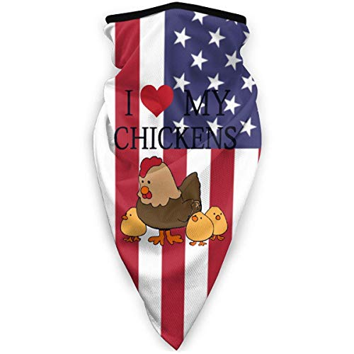 I Love Chickens Face Mask Windproof Sports Mask Fashion Bandana Headwear Scarf for Cycling