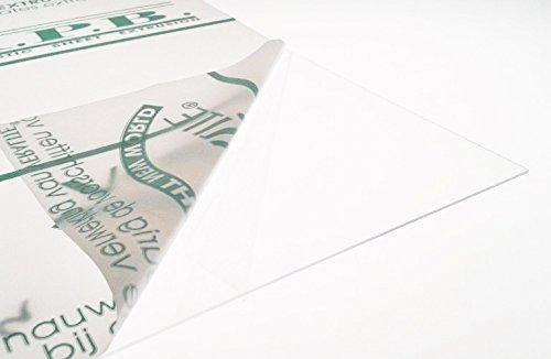 PETG, 0,75 mm, transparent, A3, 420 x 297 mm, aus Kunststoff, transparent Farbe: Puppenhaus-Fenster Plexiglas-Platte, PETG von
