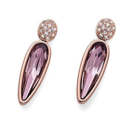 OLIVER WEBER   Ohrstecker Raindrop rosegold antique pink   DAMEN   veredelt mit Kristallen von Swarovski®   Designed in AUSTRIA   22809RG 920
