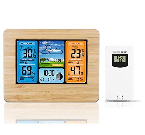 Wecker, LED-Anzeige Wetterstation Wecker Digital-Wand-Taktgeber-Temperatur-Feuchtigkeits-Hintergrundbeleuchtung Snooze USB-Funktion Tischuhr