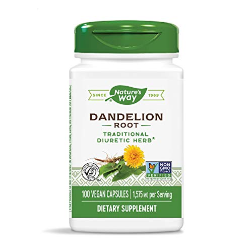Nature's Way Dandelion Root, 1,575 mg per serving, Non-GMO, Gluten Free, Vegetarian, 100 Capsules