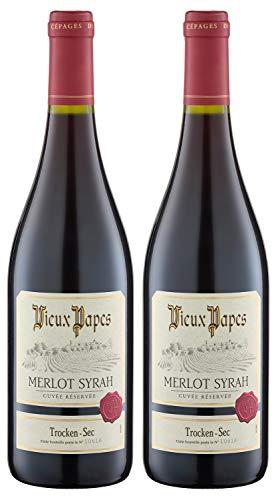 Vieux Papes Merlot Syrah 2015 trocken (2 x 0.75 l)