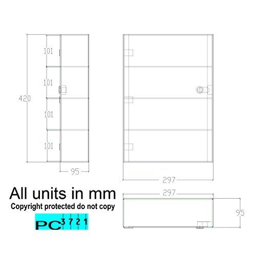 PC3721® 1 Vitrina de acrílico Transparente de Alto Brillo