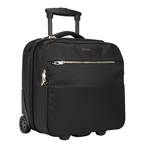 Travelon: Anti-Theft Tailored Wheeled Underseat Carry-On Bag - Onyx