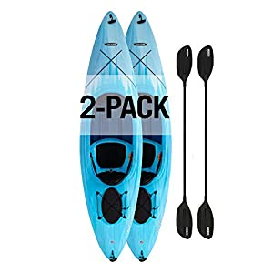 Paddles Included; Adjustable Quick Release Seat Back and Seat Pad for Comfort Deep Hull Channels for Tracking Performance and Chine Rails for Stability Multiple Footrest Positions for Different Size Paddlers Oval Hatch for Added Storage Beneath the D...