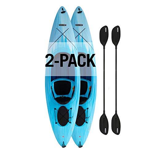 Lifetime Cruze 100 Sit-in Kayak, 2-Pack, Sky Fusion, 10-Foot