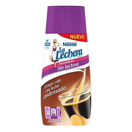 Nestlé, La Lechera, Fettarme Kondensmilch, Laktosefrei, Mit Antitropf-Verschluss, 450 g