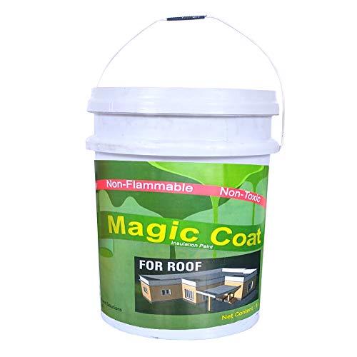 Magic coat Heat Reflective Cool Paint, White Coat Finish 4L