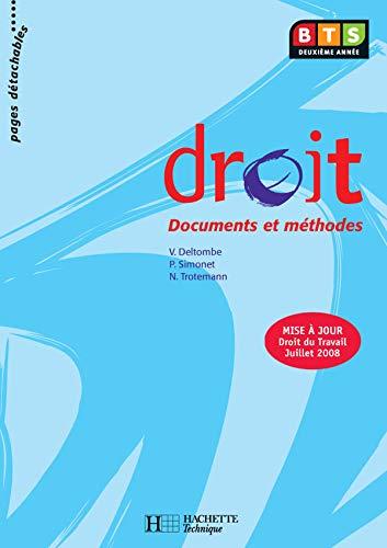 Droit, BTS 2e année, Livre de l'élève, éd. 2008
