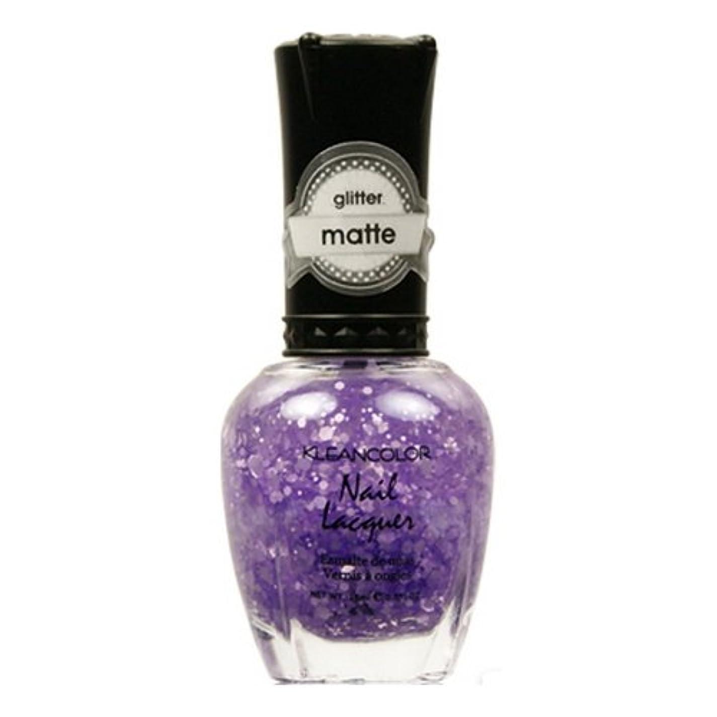 詩に対応追加KLEANCOLOR Glitter Matte Nail Lacquer - Playful Lavender (並行輸入品)