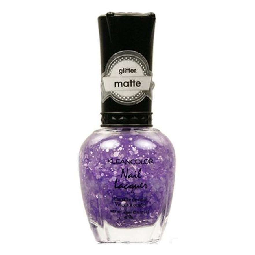干渉するリス疫病(3 Pack) KLEANCOLOR Glitter Matte Nail Lacquer - Playful Lavender (並行輸入品)