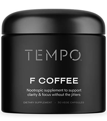 Tempo F Coffee Nootropics Brain Support Supplement | Enhance Memory, Focus, & Energy w/ Coffee Alternative Focus Pills (30ct)